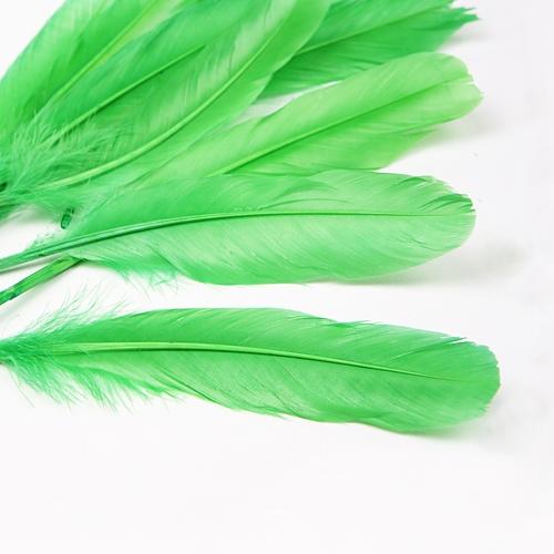 자연산 깃털(대)-그린:10개입