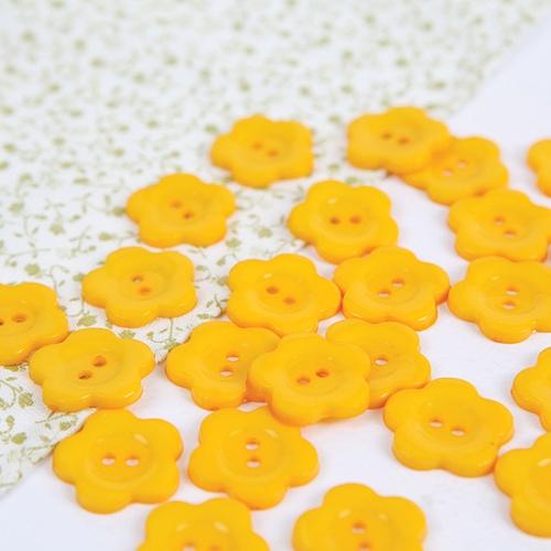 꽃모양단추-옐로우