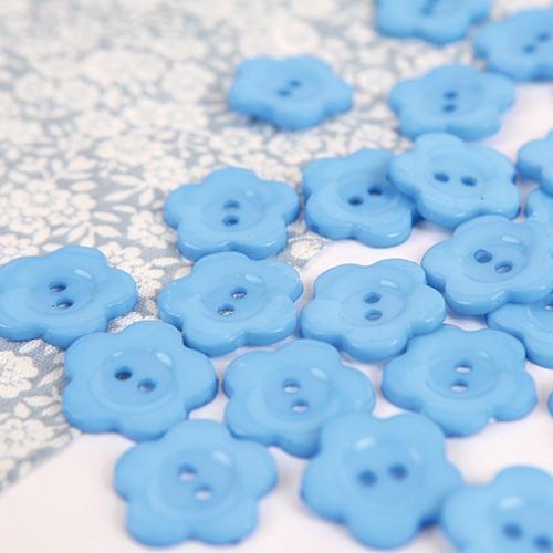 꽃모양단추-블루