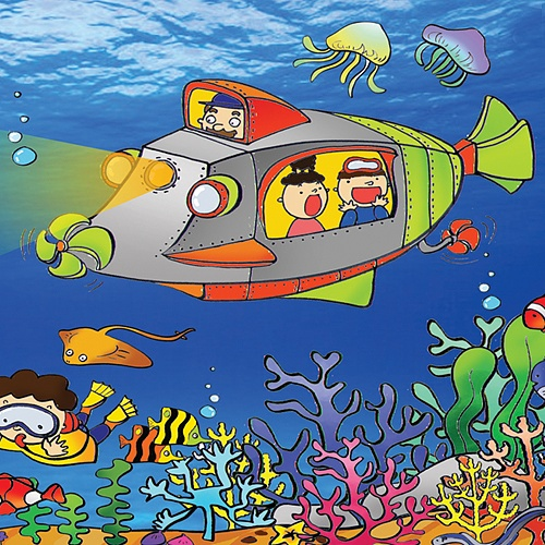 바다속 배경 현수막(3M *2 M)
