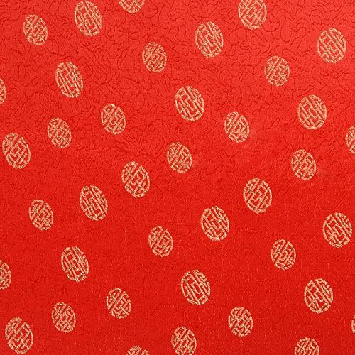 전통무늬 원단스티커 - 레드