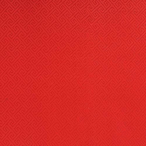 전통무늬 원단 스티커 - 미로레드