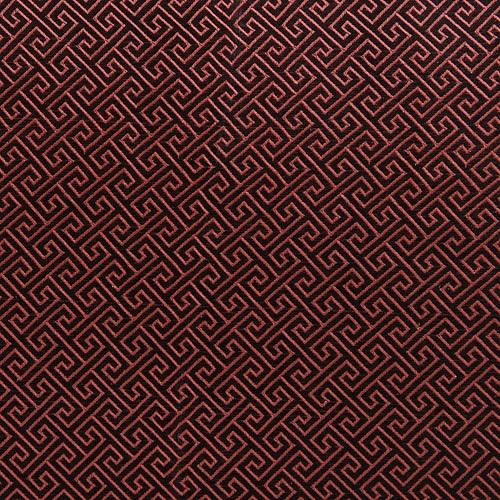 전통무늬 원단 스티커 - 미로밤색