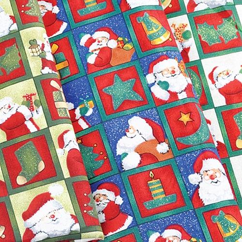 산타와 선물(원단)