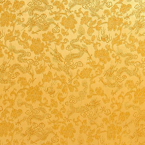 전통무늬 원단 스티커 - 골드
