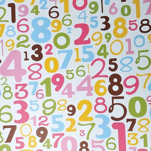 아라비아 숫자 포장지 (5장)