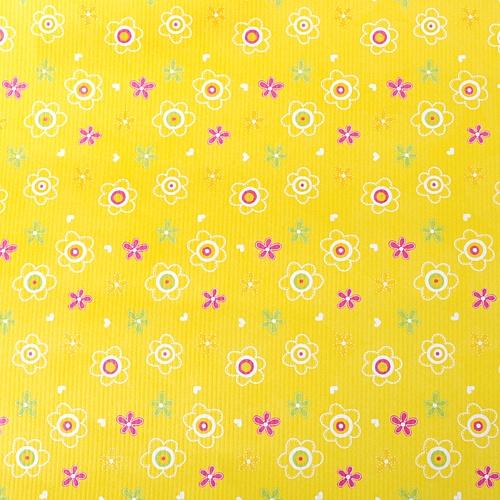 작은 꽃무늬-옐로우 포장지(5장)