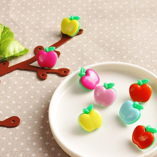 사과 단추 (10 개)