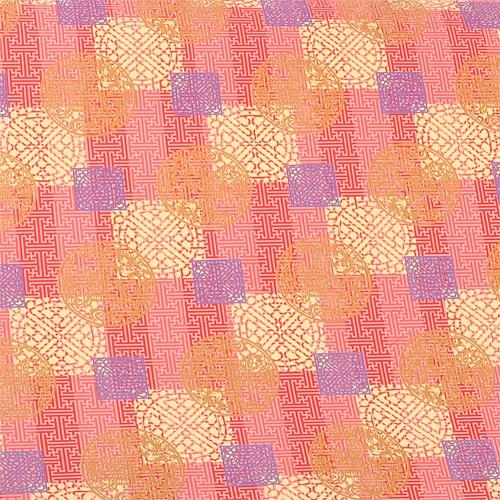 전통포장지-홍색 금박(5장)