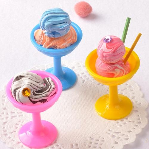아이스크림 미니 컵 ( 5 개) -점토놀이용