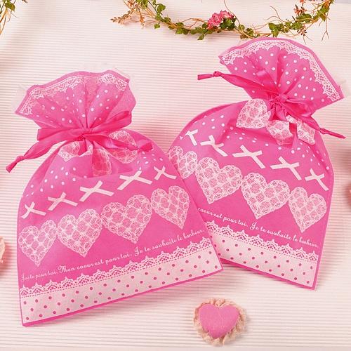 [포장주머니]핑크 선물.감사주머니 (10 개)