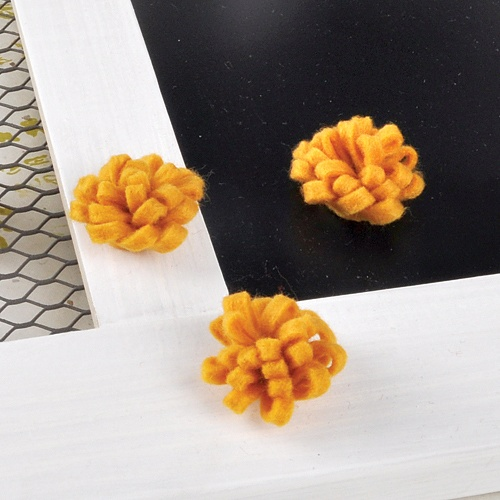 펠트 꽃 (옐로우) 4개