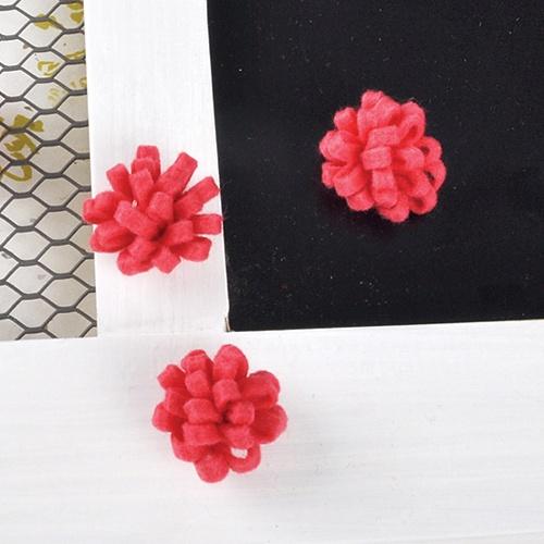 펠트 꽃 (핑크) 4개