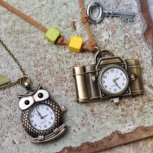 [비즈공예]앤틱 시계 목걸이만들기
