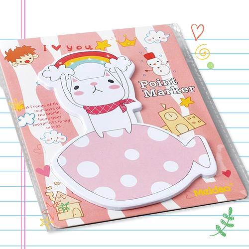 포스트잇-레인보우캣