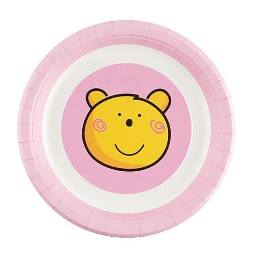 파티접시 핑크베어(23 cm )-6 입
