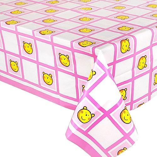 비닐테이블보 핑크베어