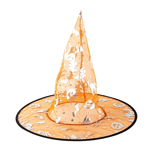 투명마녀모자 오렌지