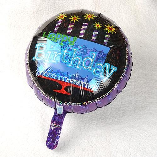 생일은박풍선-블랙배경 해피버스데이(18인치)