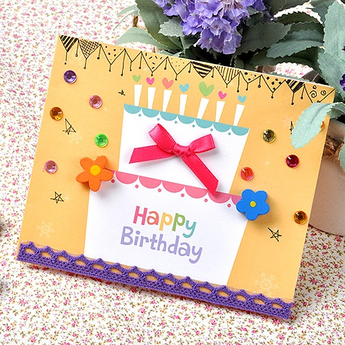 케익 생일카드(5인용)