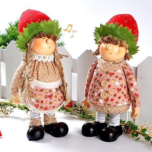 딸기 모자 인형 (2종1세트)