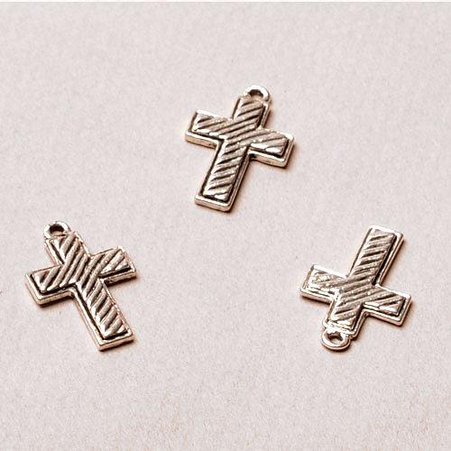 [니켈비즈]모던십자가 펜던트 (1p)