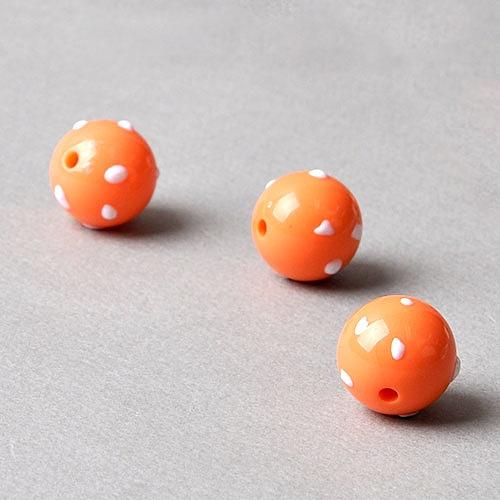 엠보싱 도트 구슬 비즈 - 오렌지(1p)