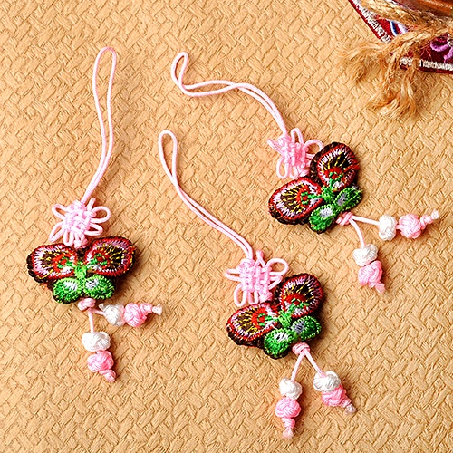 전통나비 매듭줄_ 분홍