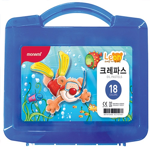 [모나미]가방파스 18색세트(레온)남