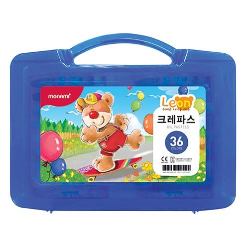 [모나미]가방파스 36색세트(레온)남