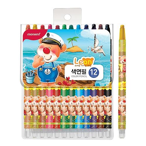 [모나미] 샤프식 색연필 레온 12색