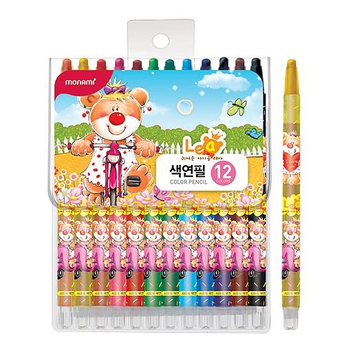 [모나미] 샤프식 색연필 레아 12색