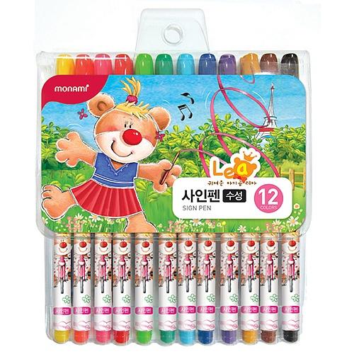 [모나미] 2016년 사인펜 12색 레아