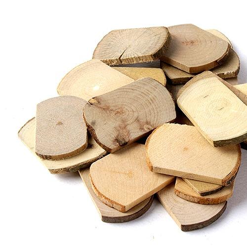 자연물_ 둥근사각 나무조각 (NA-09)