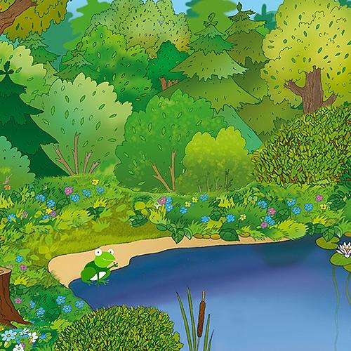 개구리연못 현수막 (2.8m*1.8m)
