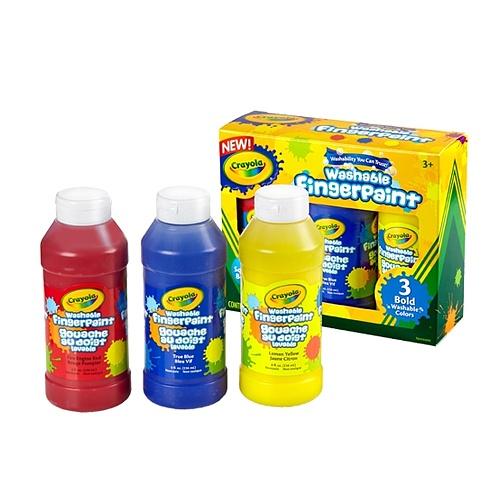 [KC인증]핑거페인트 3색 236ml(빨강 파랑 노랑)