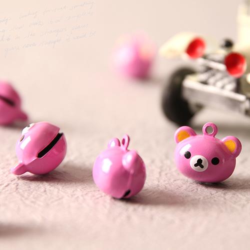 핑크 베어 방울 펜던트 (2개 1세트)