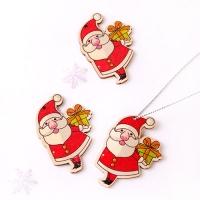 우드펜던트_ 선물 든 산타 (10개)