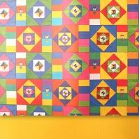 전통양면포장지_매듭보자기 패턴(5장)