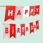 레드 패턴 생일가랜드