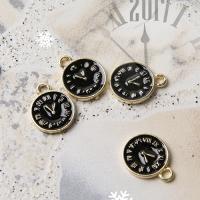 [메탈비즈]블랙 시계펜던트 (1p)
