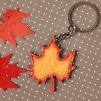 [열쇠고리]낙엽 우드키링
