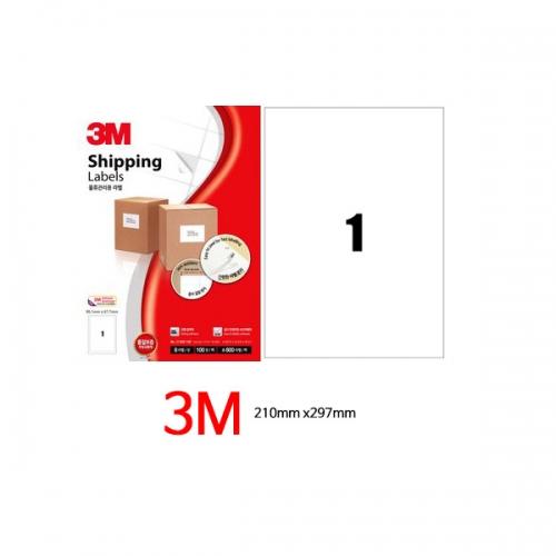 [3M] 라벨지_A4전지 1칸(100매)