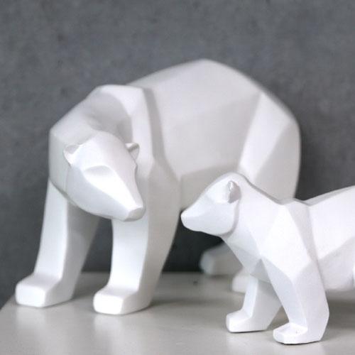 데코 조각상_ 북극곰 가족