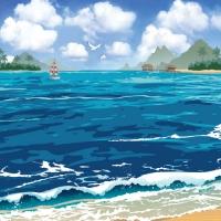 여름현수막-바다 (2m*1.5m)