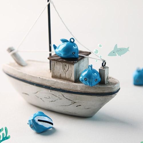 돌고래 방울팬던트 (2pcs)