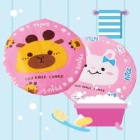 목욕모자_핑크