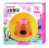 [모나미] 2018년 모니주 그림물감 18색 (남아/여아)