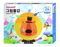 [모나미] 2018년 모니주 그림물감 24색 (남아/여아)