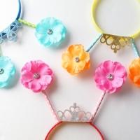 큐빅꽃막대 머리띠 (4인용)